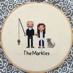 THIS LISTING IS FOR A THREE PERSON/PET PORTRAIT: ✃Two small animals = 1 person ✃Babies under 3 months are FREE Find other portrait options here: https://www.etsy.com/shop/NoBasicStitches?section_id=18250841 ✃Custom family portrait cross stitch! One of a kind and made to fit your personality. Custom made, each portrait is carefully made with love and care in every stitch. From the pattern making to the finished stitch, each piece takes around 8-30 hours to create, depending on size. Stitch...