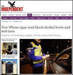 BACtrack Mobile continues to storm Europe! Recent coverage in UK's The Independent--read below.