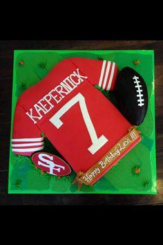 Kaepernick 49ers Cake