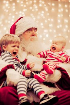Best Santa pic ever!! Can't stop laughing.