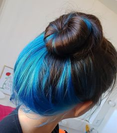 Hidden Hair Color, Hair Color For Black Hair, Blue Hair, Hair Inspo, Hair Inspiration, Hair Color Underneath, Hair Color Streaks, Cute Hair Colors, Hair Upstyles