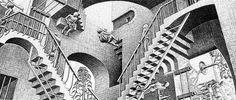 Maurits Cornelis Escher al chiostro del Bramante, Roma