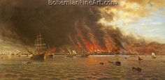 William A. Coulter, San Francisco Fire Fine Art Reproduction Oil Painting
