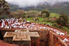 Ethiopia's Weather and Average Temperatures: Mists Gather Over Rock-Cut Churches of Lalibela, Ethiopia