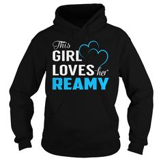 This Girl Loves Her REAMY - Last Name, Surname T-Shirt