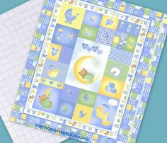 Baby Quilt Kit- Baby Boy Quilt Kit- Zoo Animal Quilt Kit- Riley ... : fabric for baby quilts - Adamdwight.com