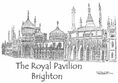 "The Royal Pavilion, Brighton by Robert Bovington - an illustration for his book ""Spanish Matters"" Royal Pavilion, Royal Residence, Brighton And Hove, Welsh, Painting & Drawing, Seaside, Taj Mahal, Spanish, Sketch"