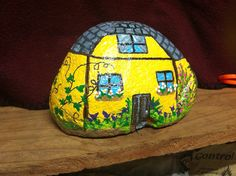 Yellow Cottage by M. Carol Keith