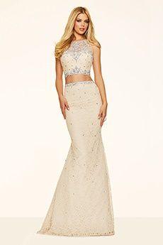 Trumpet/Mermaid Jewel Sweep/Brush Train Lace Prom Dress