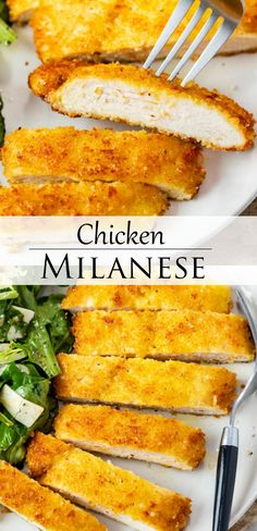 Chicken Breast Recipes Healthy, Easy Chicken Recipes, Beef Recipes, Cooking Recipes, Dinner Dishes, Dinner Recipes, Milanese Recipe, Chicken Milanese, Chicken