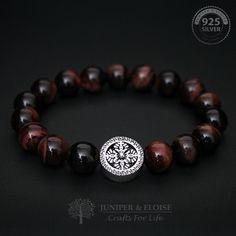 Mens Bracelet, Jewelry, 10mm Tigers Eye Beadede Bracelet, Gift Bracelet, Wholesale Available, Braccialetto Pulsera Armband Rannekoru Karkötő by JuniperandEloise on Etsy #men'sjewelry