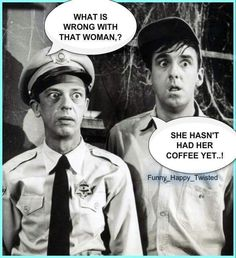 The Andy Griffith Show - Don Knotts & Jim Nabors as Barney Fife and Gomer Pyle I Love Coffee, My Coffee, Coffee Time, Coffee Break, Morning Coffee, Jim Nabors, Barney Fife, Don Knotts, The Andy Griffith Show