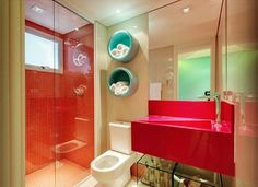 Banheiro infantil por Camila Klein Arquitetura e Interiores