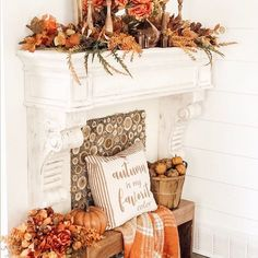 Did you hear me and are doing live tomorrow with at 10 AM EST. Make sure to tune into. Vintage Fall, Vintage Decor, Rustic Farmhouse Decor, Rustic Decor, Seasonal Decor, Fall Decor, Farmhouse Living Room Furniture, Diy Fireplace, Mantle