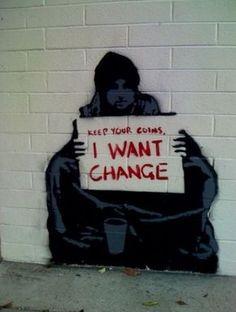 homelessarecopywriters: Meaningful street art.