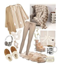 """""""Day at home"""" by alishaalisha ❤ liked on Polyvore featuring UGG, Dibor, Beats by Dr. Dre, Bulgari, Chinti and Parker, Raoul, ESCADA, Dorothy Perkins, Pier 1 Imports and Frontgate"""