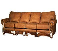 Foxridge Western 4 Cushion Leather Sofa Wild West Leather