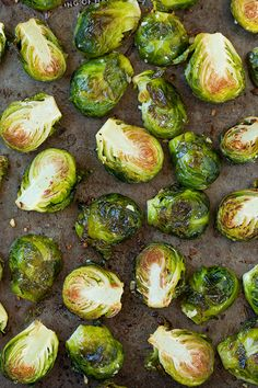 Garlic Lemon and Parmesan Roasted Brussel Sprouts - Cooking Classy
