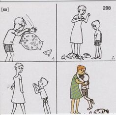 RELOJ DE EMOCIONES: A continuación se presenta unos cómic para trabajar emociones en clases de inglés. Se les puede preguntar a los niños cómo se sienten los personajes en las diferentes viñetas.