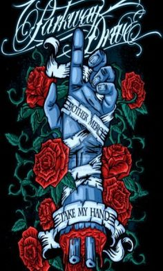 mother mercy take my hand. Love this as a tat. One of my favorite bands and lyrics that I relate to. Music Artwork, Metal Artwork, Dan Mumford, Parkway Drive, Rock Band Posters, Heavy Metal Art, Band Wallpapers, Metal Albums, Affinity Designer
