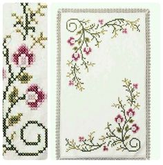 This Pin was discovered by Rab Cross Stitch Borders, Cross Stitch Flowers, Cross Stitching, Cross Stitch Embroidery, Cross Stitch Patterns, Crochet Bedspread, Tree Branches, Needlepoint, Embroidery Designs