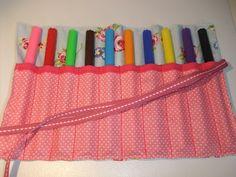 Sew Scrumptious: Felt Tip / Pencil Roll Tutorial
