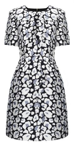 Whistles Floral Leopard Structured Dress #AnimalMagnetism