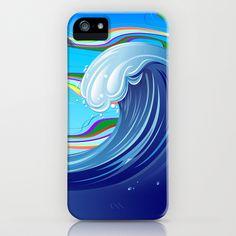 Sea Ocean big Wave iPhone & iPod Case by Bluedarkat Lem - $35.00