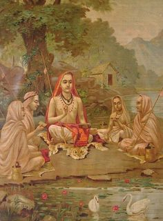 Ever heard of Jnana Yoga? Jnana or wisdom is the most difficult paths of spiritual enlightenment which requires strong will and dedication. Check out this article to know what is Jnana Yoga and about the asanas involved in it. Jnana Yoga, Bhagavad Gita, Indian Gods, Indian Art, Yoga Sutra, Raja Ravi Varma, Saints Of India, Indian Saints, Advaita Vedanta