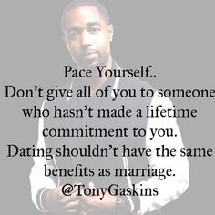 Dating shouldn't have the same benefits as marriage!!!!!!!! That is what most couples seem to forget!!!!!! Get back to respecting yourself with a Higher standard and Value yourself!!!!!!