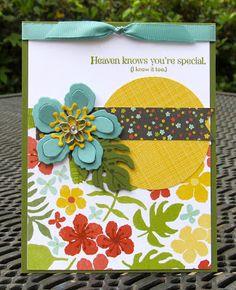 Krystal's Cards: Stampin' Up! Botanical Blooms Gardens #stampinup #krystals_cards #botanicalblooms #onlinecardclass
