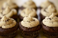Chocolate peanut butter cupcakes!! Making these for Aaron's birthday!