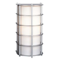 Features:  -Hollywood Hills collection.  -Bulb type: 26W Quad 4-pin G24Q bulb (not included).  -Number of lights: 1.  -Finish: Vista silver.  -Shade color: Etched white opal.  -Shade material: Glass.