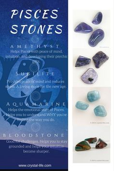 Crystals that work well during the time of Pisces.