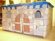 Extra Large Castle playhouse dining table childrens by Tableforts, SO COOL!