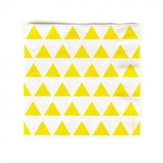 My Little Day Paper serviettes with yellow triangles - set of Details : 20 towels, triangle print * Fabrics : Paper * Color : Yellow, White * Foldable 16.5 x 16.5 cm. * Made in : France http://www.MightGet.com/january-2017-13/my-little-day-paper-serviettes-with-yellow-triangles--set-of.asp