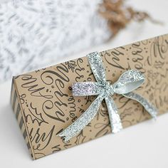 Christmas Script Candy Box from Melissa Esplin // Curbly