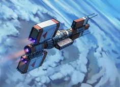 Sci Fi Freighter By Eric Geusz