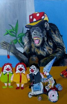 Buy Clown, Oil painting by soso kumsiashvili on Artfinder. Discover thousands of other original paintings, prints, sculptures and photography from independent artists.