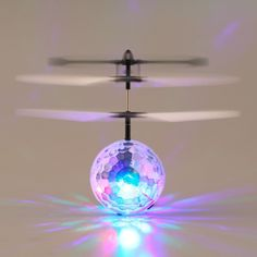 2016 New Arrival Infrared Induction Flying Flash Disco Colorful LED Ball Helicopter Child Toy Newest