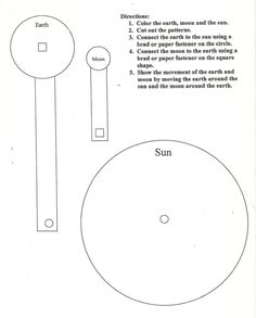 sun moon and earth worksheets - Google Search