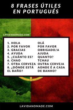 Portuguese Phrases, Learn To Speak Portuguese, Portuguese Language, French Language, Learn English, English Class, Spanish Practice, Study Spanish, Sashimi