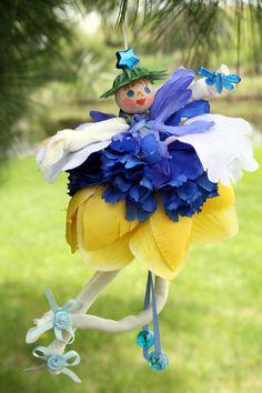 Flower Fairy Pixie Doll Flower Fairy Ornament Woodland