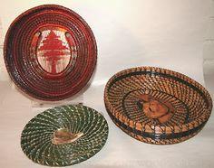 pineneedle baskets   Fine Wood Wording: Pine Needle Baskets    by Luella Castelda, wonderful ideas.