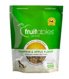 Fruitables Pumpkin & Apple Flavor Crunchy Dog Treats, 7-oz bag