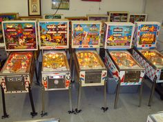 Old school pinball machines. Played these at our neighbors house ( and camping). Our neighbor had a huge piano store downtown Cleveland and antiques. They had all kinds of fun things at their house. I use to love to go there and babysit.