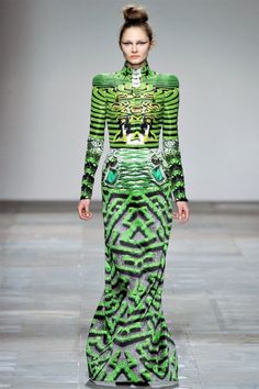 Are your eyes crossing, too??...  (Mary Katrantzou Fall 2012 | London Fashion Week)