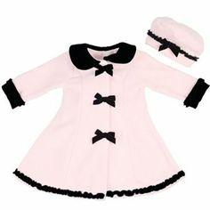 Sophie Rose Velvet Bow Fleece Coat   Hat Set - Toddler 1dca5006fa7