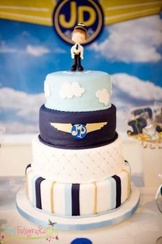 Airplane Airline Pilot Themed Boy 1st Birthday Party Planning Ideas