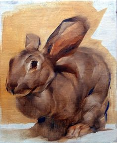 32 x 32 cm Art And Illustration, Painting Inspiration, Art Inspo, Wal Art, Tinta China, Rabbit Art, Bunny Art, Guache, Watercolor Animals